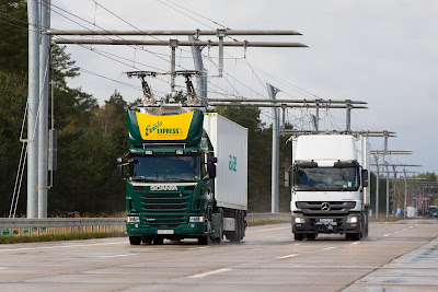 Siemens eHighway in Germany to power electric trucks