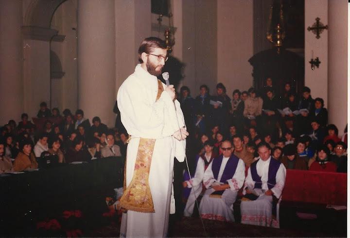 Don Sergio durante l'Ordinazione sacerdotale in Duomo (16/12/1978)