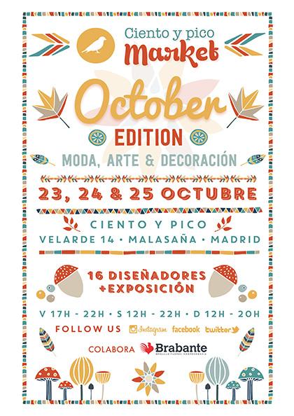Vuelve Ciento y pico Market el próximo fin de semana con la October edition