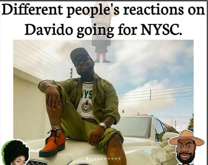 Very Funny!!! See The 9 Ways Nigerians Reacted When They Heard Davido's NYSC News