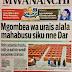 Habari Zilizopo Katika kurasa za Magazeti ya Leo Jumatano ya Septemba 6