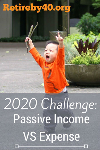 2020 Challenge: Passive Income VS Expense