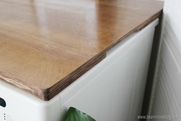 Diy Plywood Countertop Bean In Love