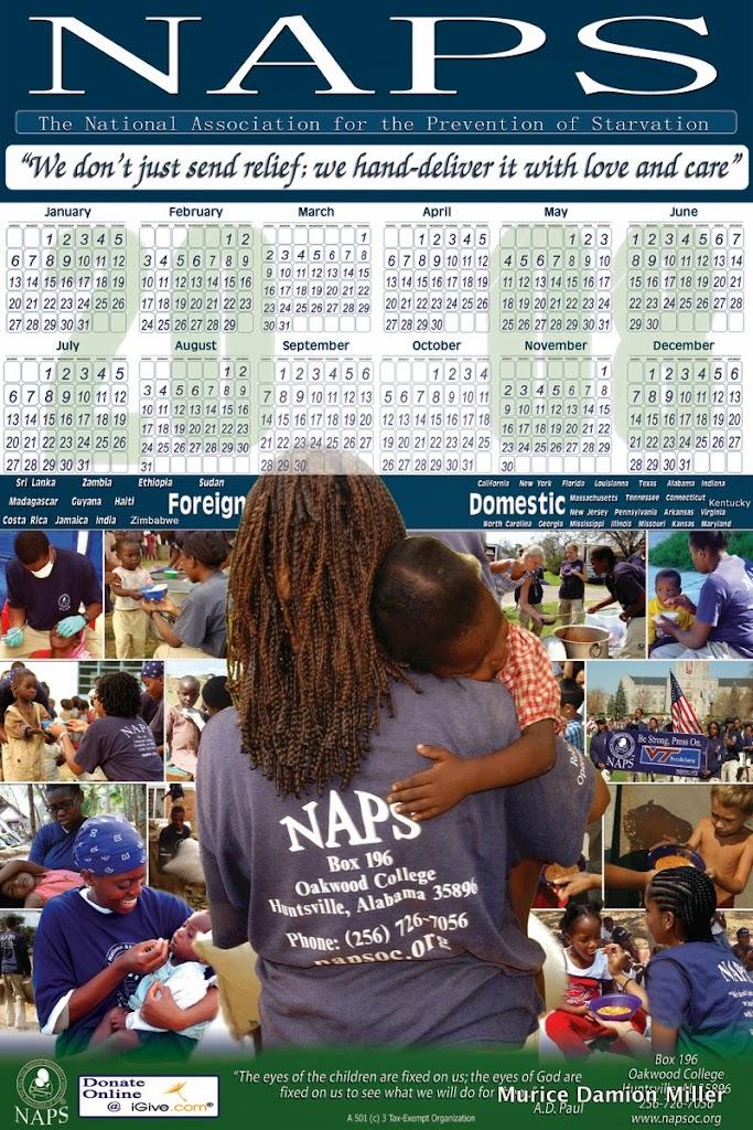 NAPS 2008 Calendar update final