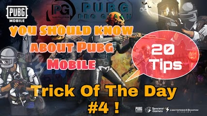 Trick Of The Day #4 ! 20 tips and tricks everyone should know about Pubg Mobile.
