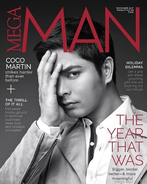 Coco Martin for Mega Man Dec 2017