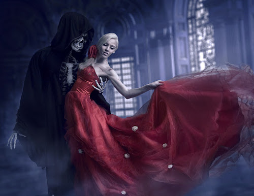 Write a dark poem or ballad inspired by the picture prompt above