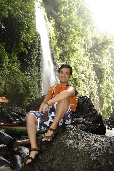 PauTravels at a waterfall near the Pagsanjan Falls