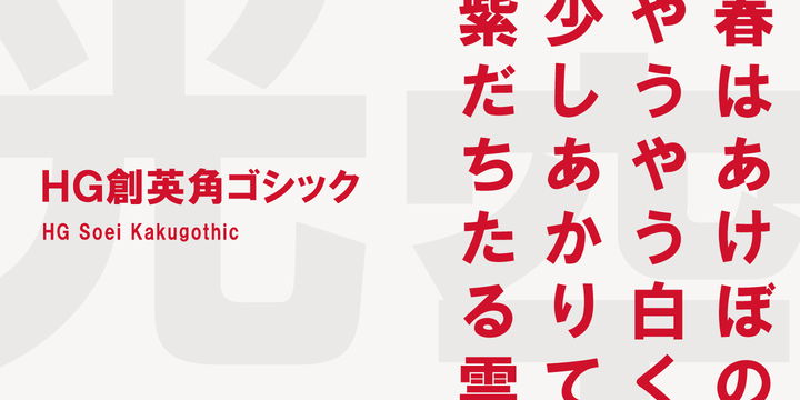 Download HG Soei Kakugothic Font Family From RICOH