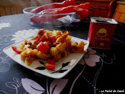 Sacchettini al tartufo con pimentón de la Vera