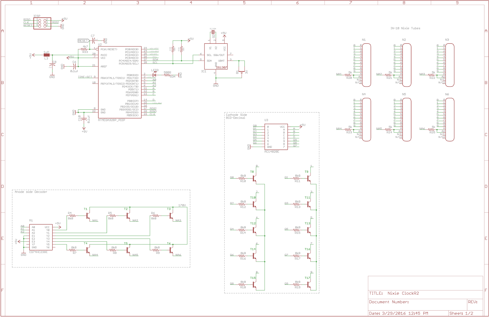nixie tube schematic review