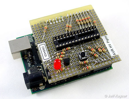 High Voltage Programmer for recover 'deaf' avr chip