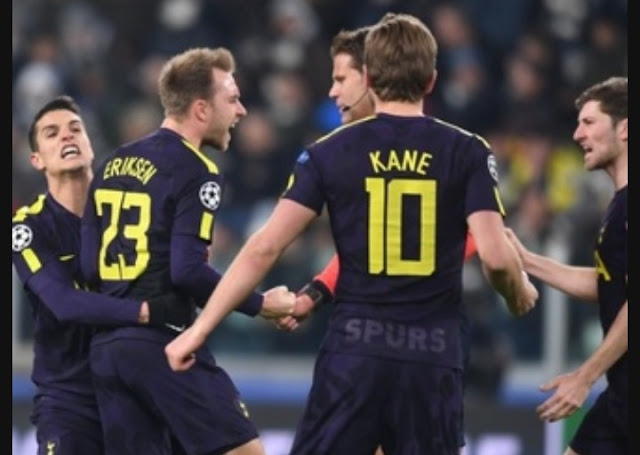 Juventus 2 Tottenham Hotspur 2 Champions League match highlight