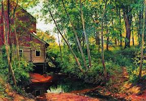 Мельница в лесу.Преображенское.1897 год.jpg