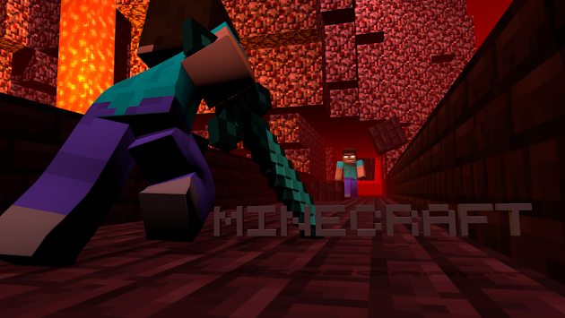 Minecraft Herobrine Vs Steve Wallpaper Cover photo