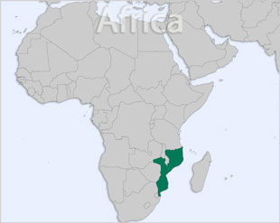 Mozambique location map