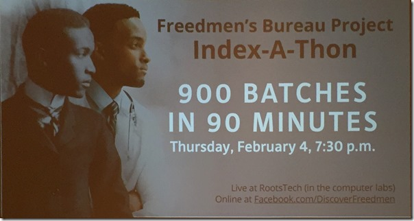 The Freedmen's Bureau Index-A-Thon