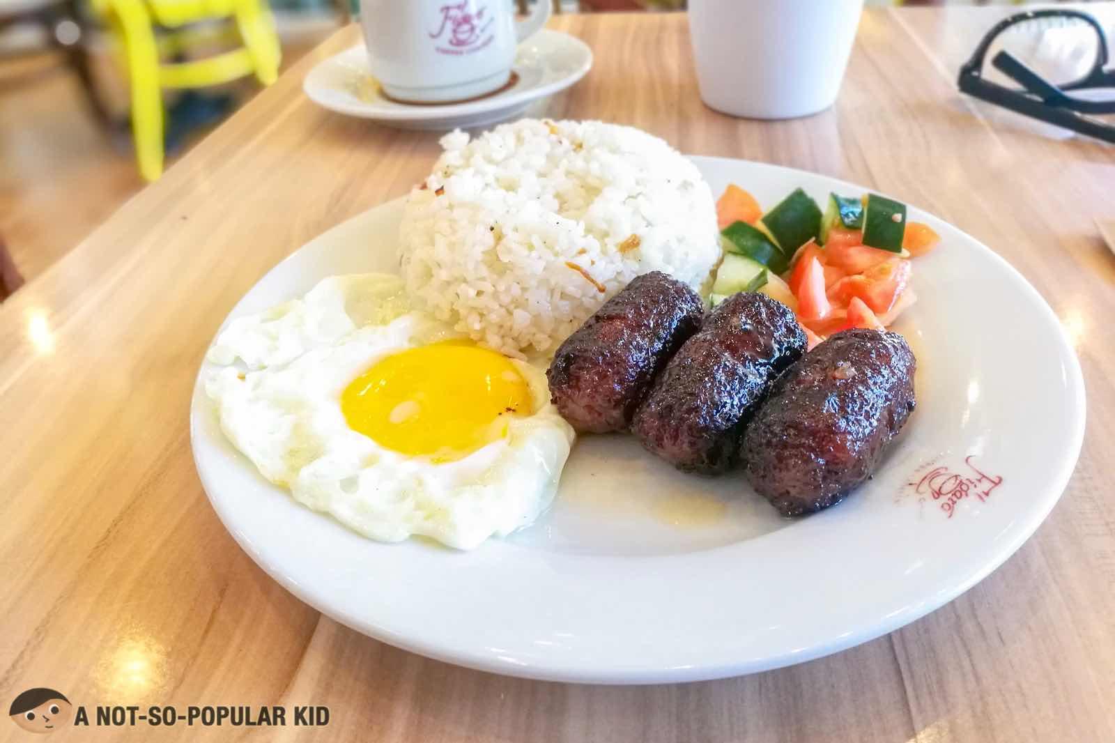 Pork Longganisa of Figaro in Bonifacio High Street
