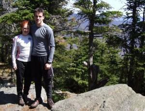 Katy and Owen atop Mount Tecumseh