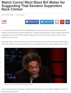 20160730_0728 Watch Cornel West Blast Bill Maher for Suggesting Sanders Supporters Back Clinton.jpg