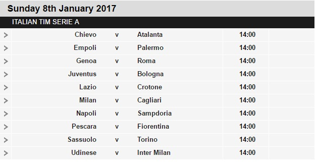 Serie%2BA%2Bschedule%2B19 Planning a Football Trip to Italy - SERIE A FIXTURES 2016/17