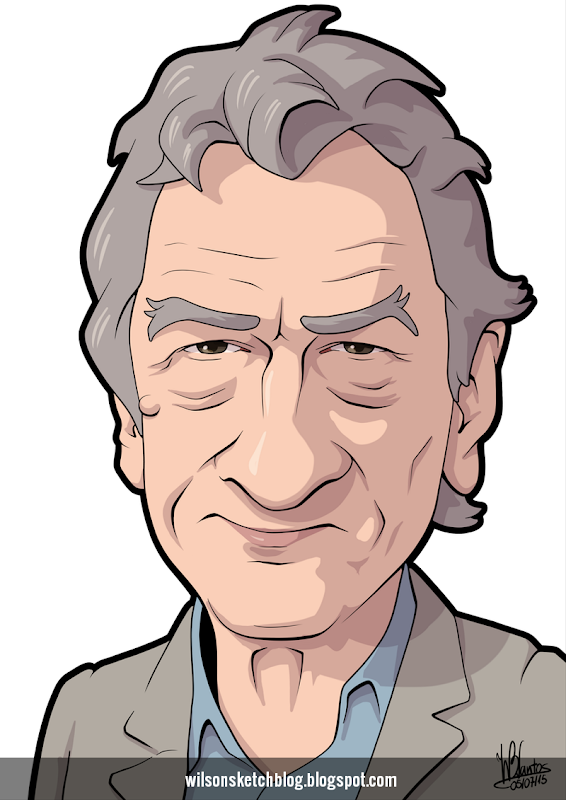 Cartoon caricature of Rober De Niro.
