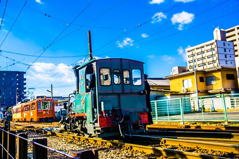 伊予鉄道 坊っちゃん列車 方向転換1