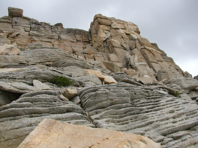 rocks in layers and like cathedrals