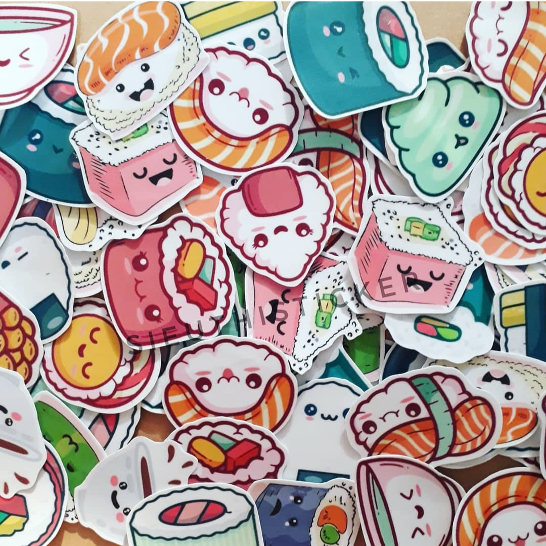 sticker đồ ăn dễ thương