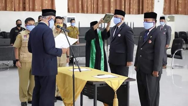 Wako Mahyeldi Lantik Budi Payan Jabat Kepala BPKA dan Andree Algamar Kadis Perdagangan.