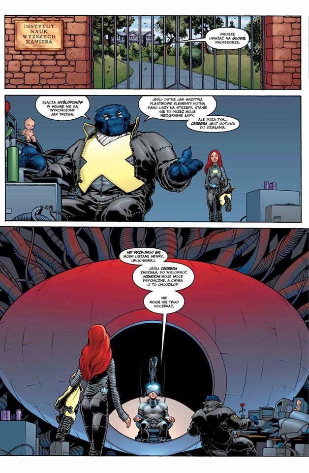 New X-Men tom 1 przykładowa strona