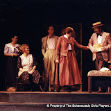 Joan Justice, Cynde Schwartz, Mark Stephens, Claudia Bertasso and Rick Kelsey in LOOK HOMEWARD, ANGEL (R) - March 1994.  Property of The Schenectady Civic Players Theater Archive.