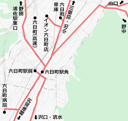 六日町バス路線図