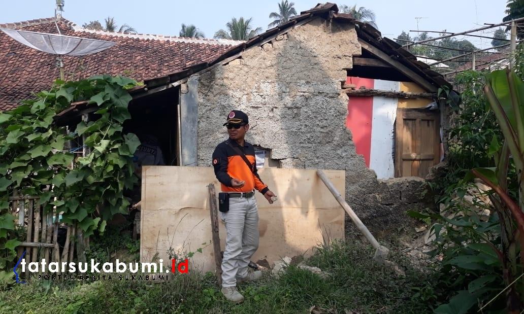 Dampak Gempa Banten Tembok Rumah Warga Nagrak Sukabumi Ambrol