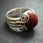Ring Silber mit Schnecke und Jaspis.JPG