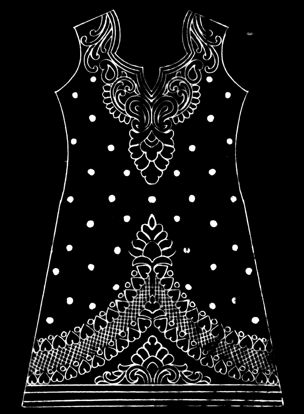 Latest hand embroidery dress design 2019/2020 || how to draw dress design || download emroidery design image.