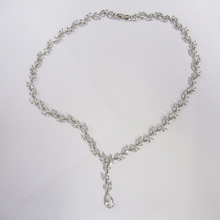 Sterling Silver and Clear Stone Necklace
