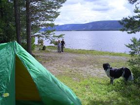 Camping vid fäbodvall