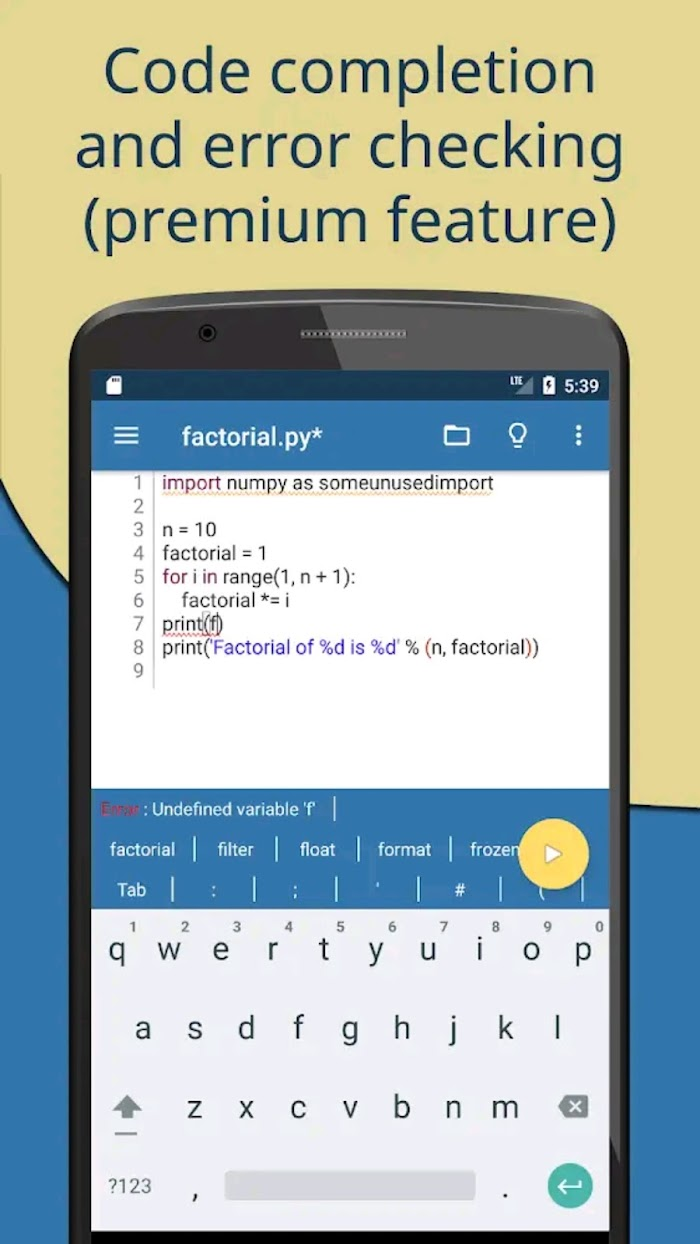 How to write and Execute python programs on Android offline
