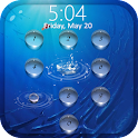 Lock screen - water droplets icon