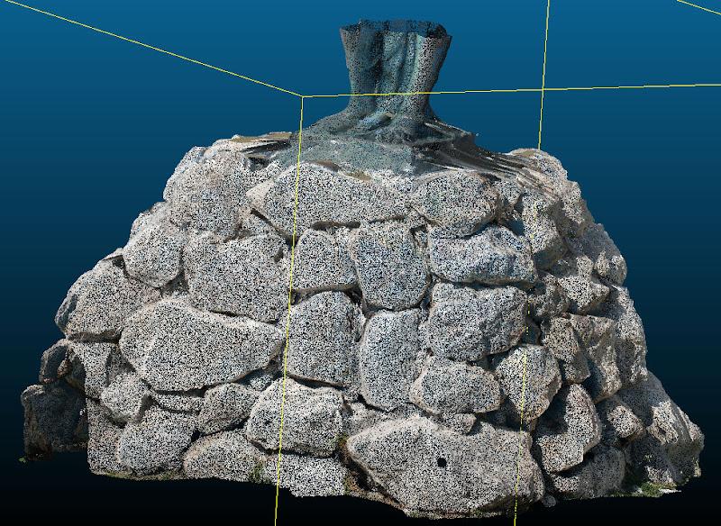 Nubes de Puntos Estatua Palma de Mallorca