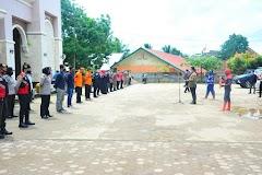 Kampanye Disiplin Protokol Covid-19, Hari Ini 20 ribu Masker Dibagikan  Masker Serentak di Banyuasin