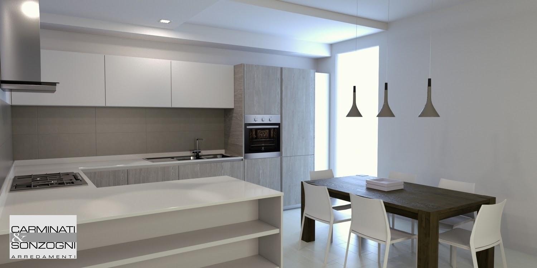 Arredamento Cucina A Vista. Cucina Soggiorno Open Space Arredare ...