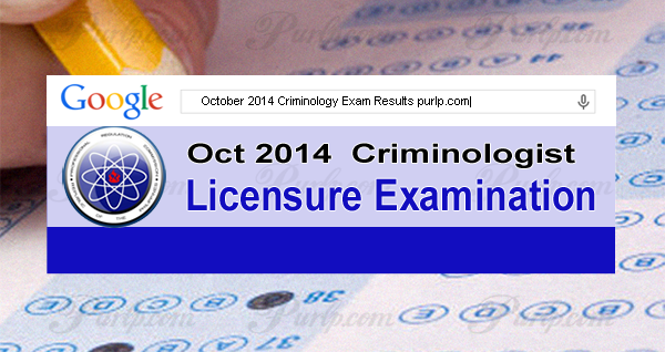 October 2014 Criminology Exam Results, List of Passers