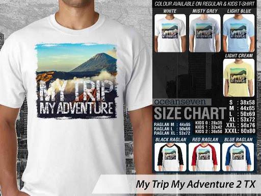 Kaos Wisata Indonesia My Trip My Adventure 2 distro ocean seven