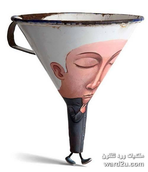 فنان فرنسى يحول ادواته الى كيانات مرحه Gilbert Legrand