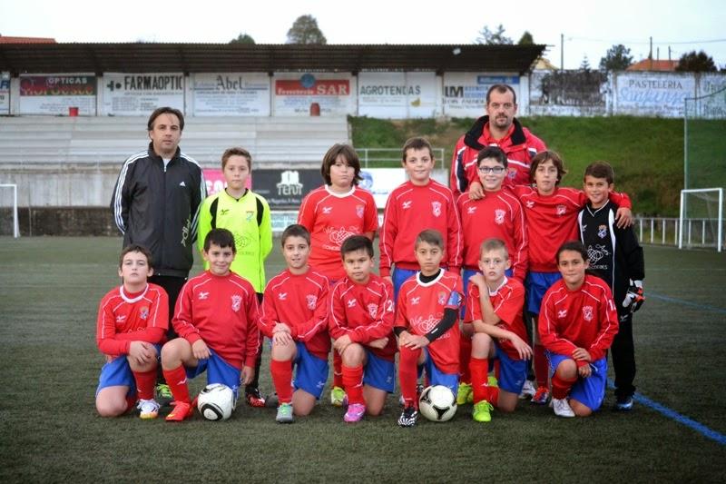 Equipo alevín do Numancia de Ares (07/11/2014)