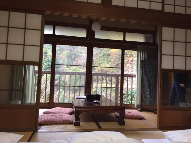 Our room at Shojoshin-in temple in Koyasan. It overlooked a gorgeous Japanese garden with a pond and koi.