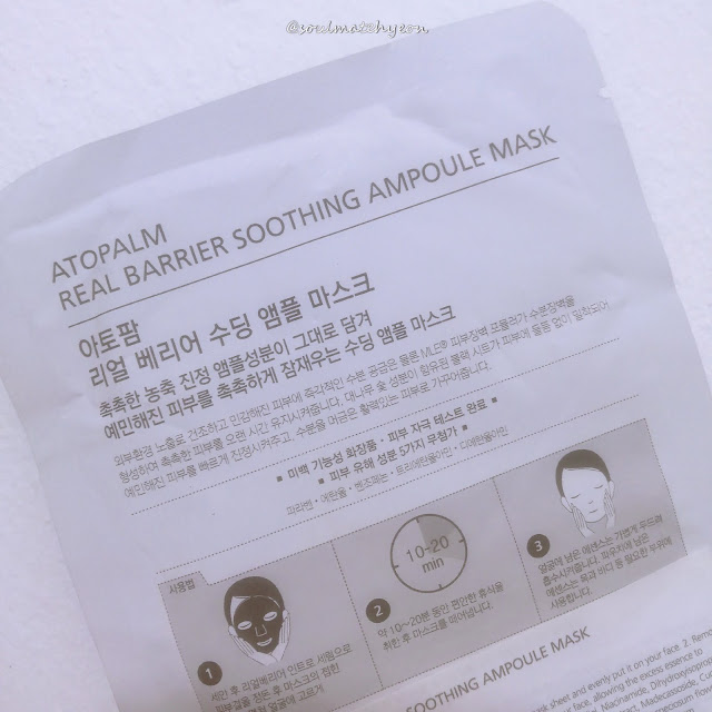 Review; Atopalm Real Barrier Soothing Ampoule Mask