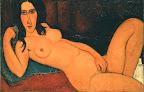 Amedeo Modigliani: Fekvő akt kibontott hajjal, 1917, olaj, vászon, 60 × 92,2 cm (Fotó: © Oszaka Város Modern Művészeti Múzeuma, Oszaka/MNG)